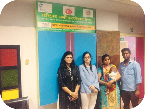 Bringing Smile through service coordination at Centre of Excellence- District Early Intervention Centre (COE-DEIC), Noida
