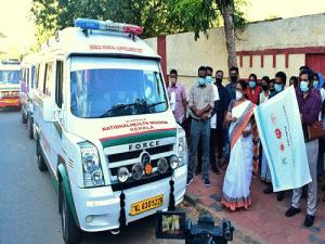 Launch of 17 MMSU in Kerala by Hon'ble Health Minister, Kerala