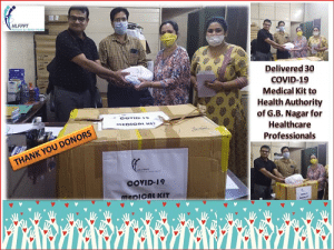 Distribution of 30 Medical Relief Kit to CMO-Noida for healthcare professionals